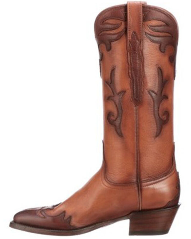 Lucchese Women's Oakley Greer Western Boots - Round Toe, Pecan, hi-res