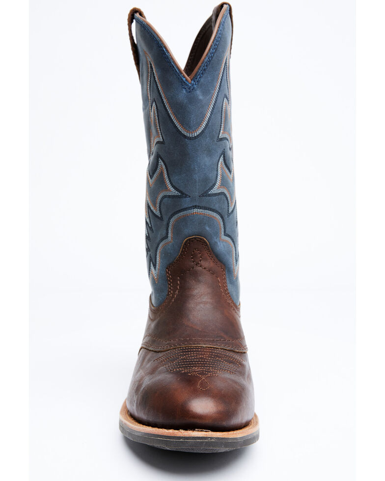 Cody James Men's Durance Brass Western Boots - Round Toe, Blue, hi-res