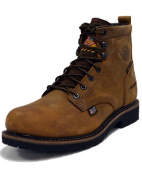 Justin Men's Drywall Waterproof Work Boots - Steel Toe, Brown, hi-res