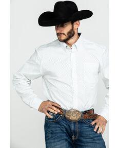 Cody James Core Men's Mayflower Floral Geo Print Long Sleeve Western Shirt , White, hi-res
