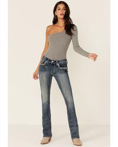 Grace In LA Women's Medium Wash Steerhead Bootcut Jeans, Blue, hi-res