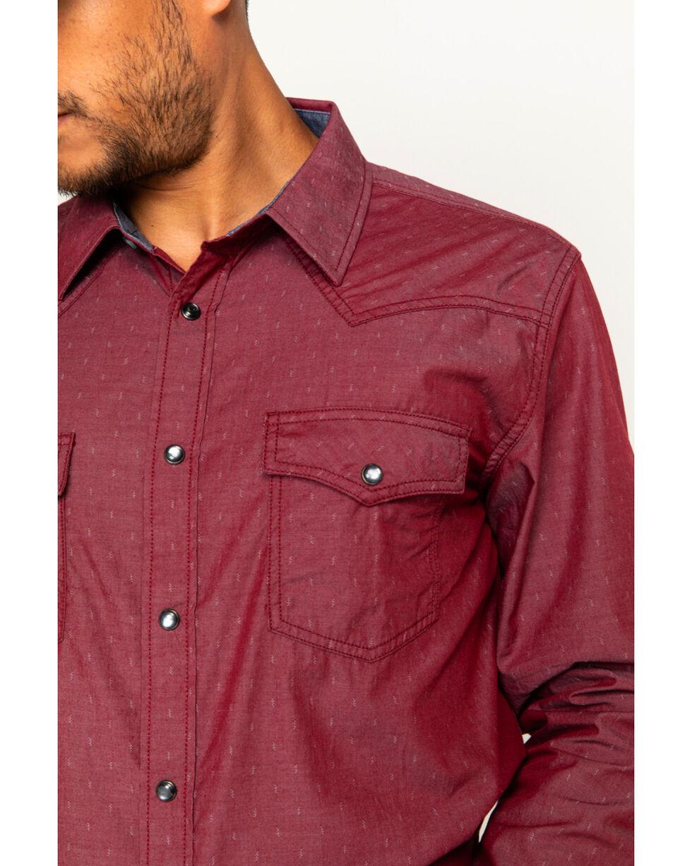 Cody James Men's Toledo Long Sleeve Western Snap Shirt, Red, hi-res