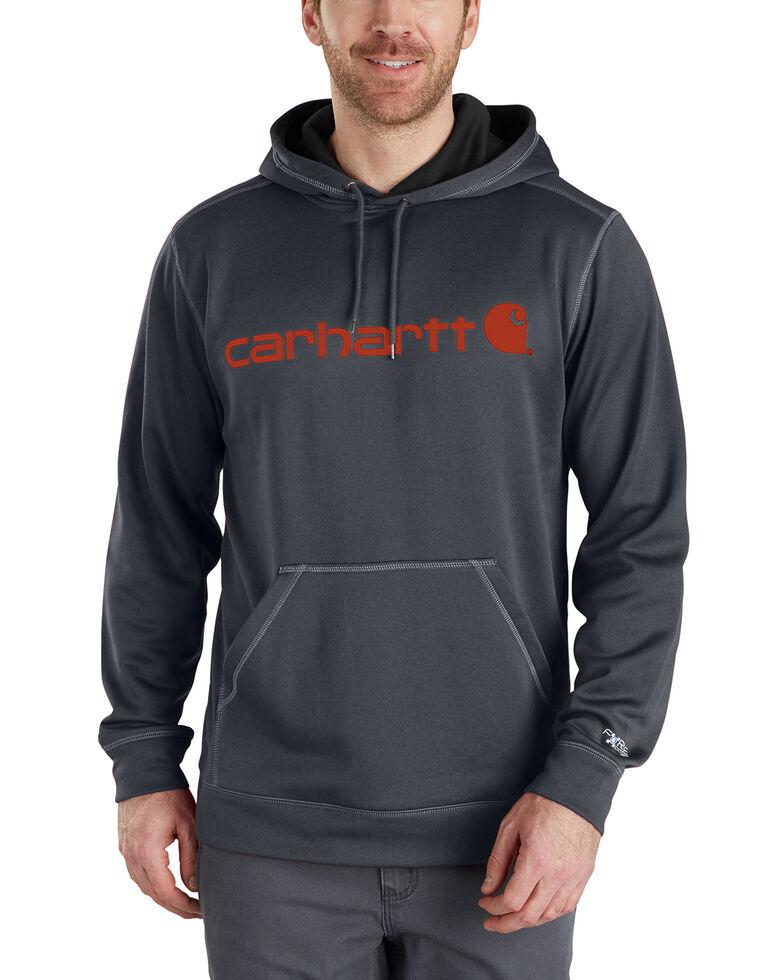 Carhartt Extremes® Force Signature Graphic Hooded Sweatshirt - Big & Tall, Grey, hi-res