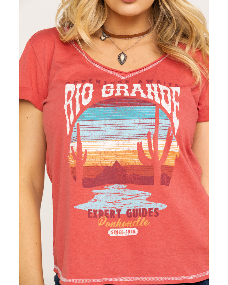 Panhandle Women's White Label Rio Grande Desert Graphic Knit Top , , hi-res