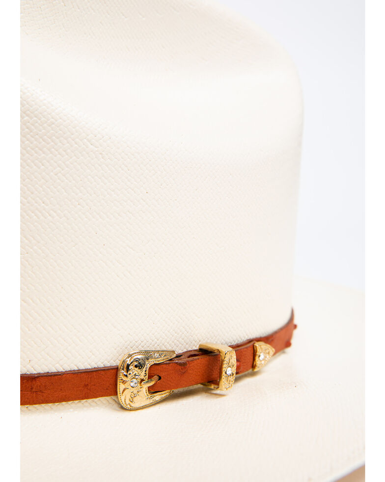 Cody James Men's 300x Panama Faux Ostrich Cognac Marlboro Cowboy Hat, Natural, hi-res