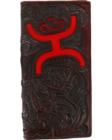 Hooey Men's Signature Tooled Bi-Fold Wallet, Brown, hi-res