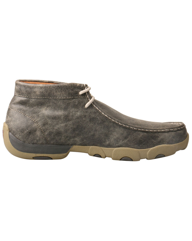 Twisted X Men's Driving Shoes - Moc Toe, Grey, hi-res