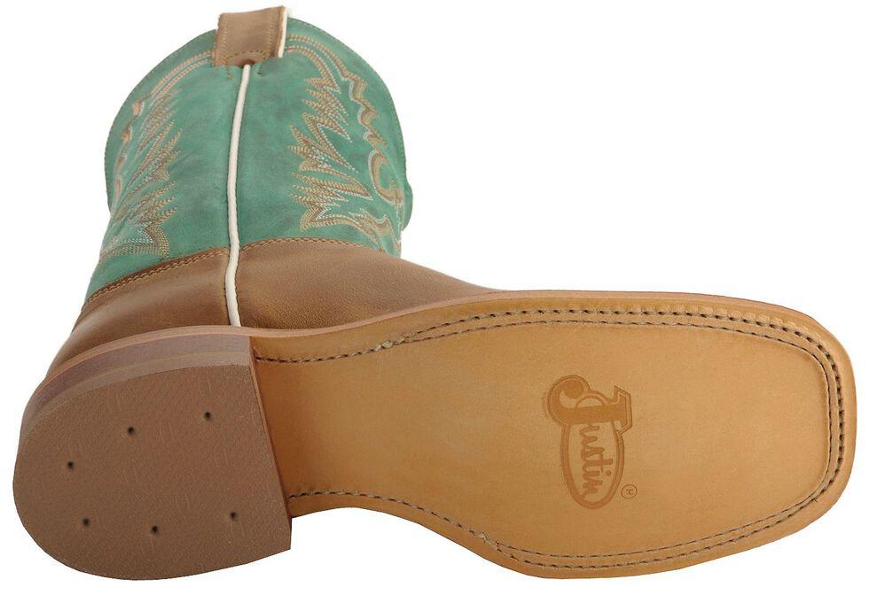 Justin Bent Rail Women's Kenedy Tan Cowgirl Boots - Square Toe, Tan, hi-res