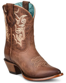 Corral Women's Brown Embroidery Western Boots - Pointed Toe, Brown, hi-res