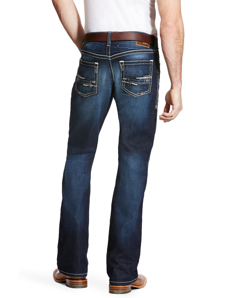Ariat Men's M4 Adkins Turnout Bootcut Jeans - Big, Blue, hi-res