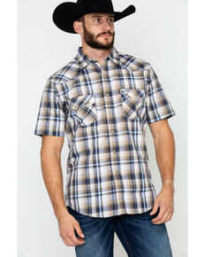53aeb67456 Wrangler Retro Men s Plaid Short Sleeve Western Shirt