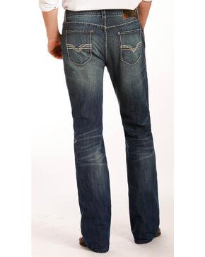 Rock & Roll Cowboy Men's Zig Zag Embroidered Jeans - Boot Cut , Indigo, hi-res