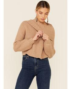 Elan Women's Open Back Sweater, Camel, hi-res