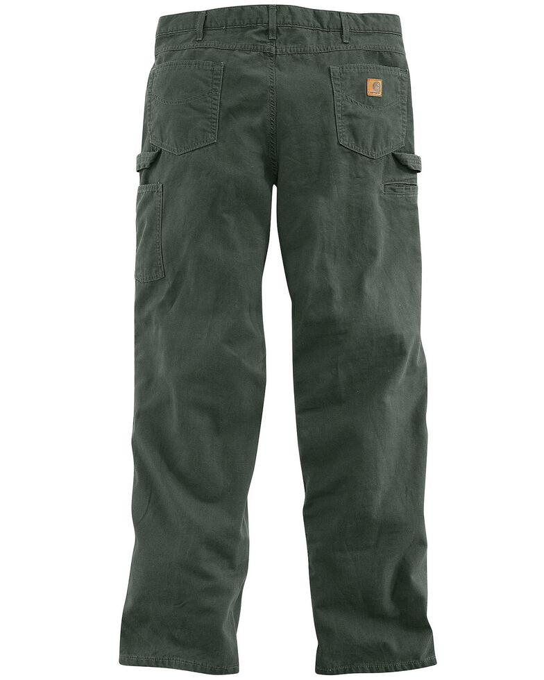 Carhartt Loose Fit Canvas Carpenter Five Pocket Work Pants, Moss, hi-res