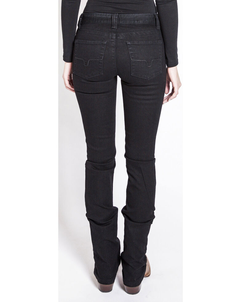 Kimes Ranch Women's Betty Black Modest Bootcut Jeans, Black, hi-res