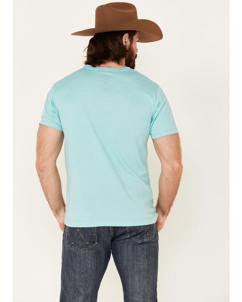 HOOey Men's Teal Lock-Up Logo Short Sleeve T-Shirt , Teal, hi-res