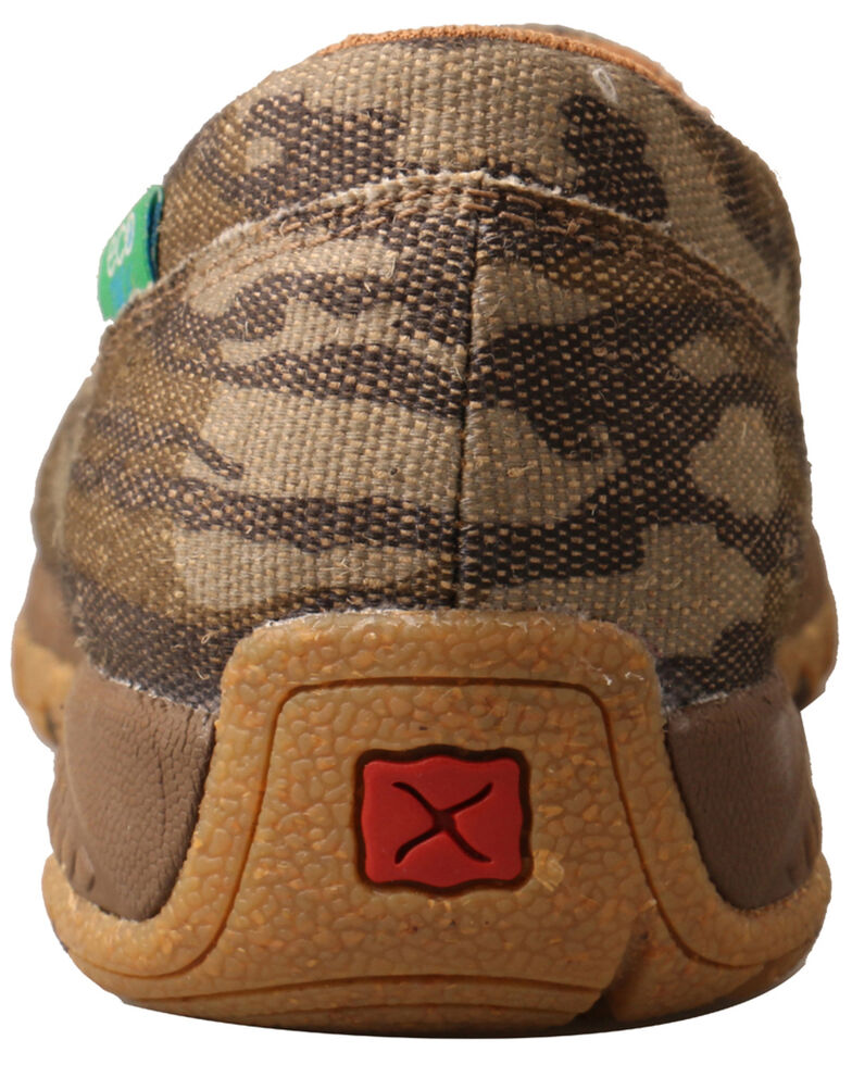 Twisted X Women's CellStretch Mossy Oak Original Bottomland Driving Moc Shoes - Moc Toe, Camouflage, hi-res
