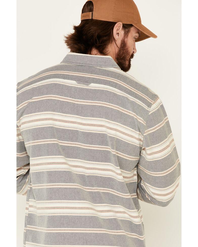 Pendleton Men's Blue Beach Shack Striped Long Sleeve Western Shirt , Blue, hi-res