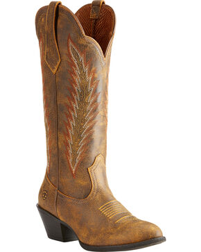 Ariat Women's Brown Desert Sky Vintage Bomber Boots - Medium Toe , Brown, hi-res