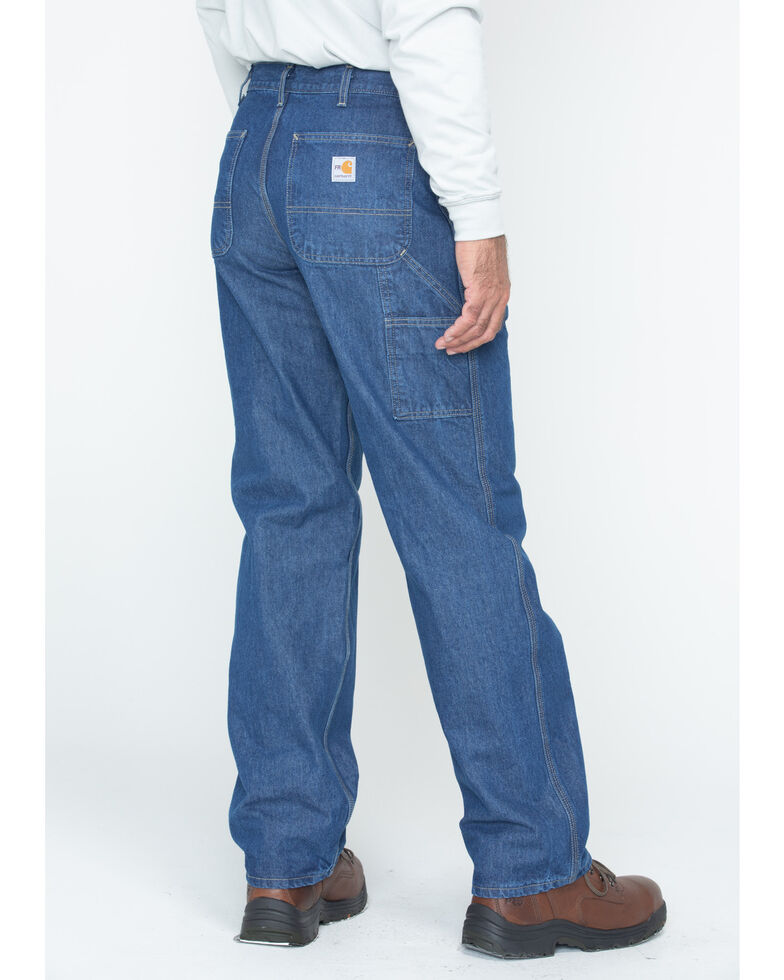 Carhartt Flame Resistant Signature Denim Dungaree Work Jeans, Denim, hi-res