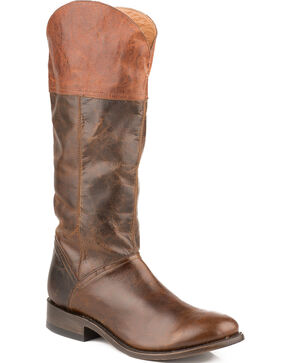 "Stetson Abbie 15"" Riding Boots, Dark Brown, hi-res"