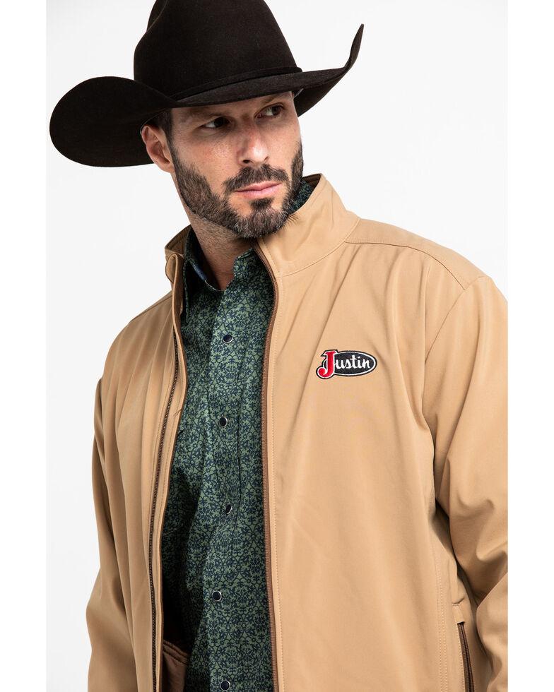 Justin Men's Khaki Fleece Laminated Jacket , Beige/khaki, hi-res
