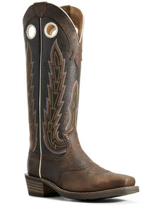 Ariat Men's Heritage Buckaroo Western Boots - Square Toe, Chocolate, hi-res