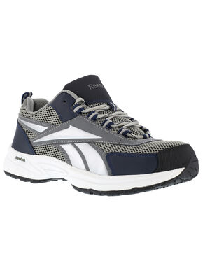 Reebok Men's Kenoy Cross Trainer Work Shoes - Steel Toe, Grey, hi-res