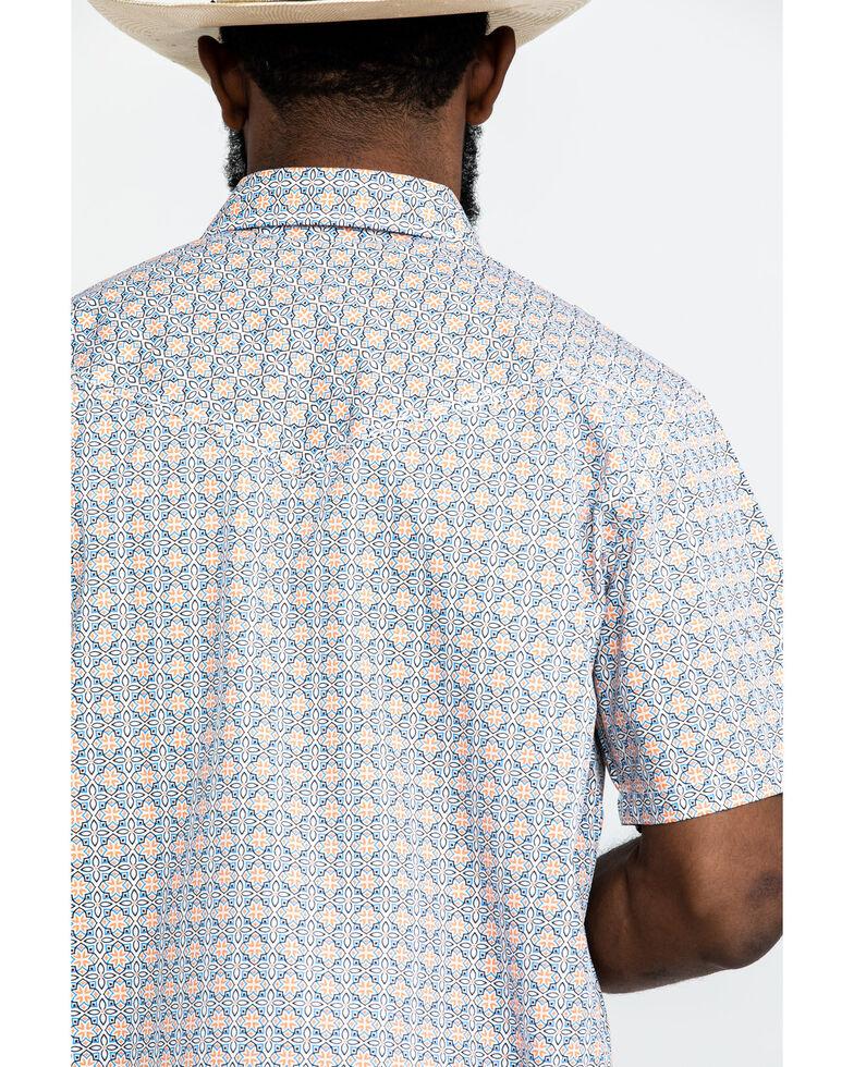 Cody James Men's Solitas Tile Geo Print Short Sleeve Western Shirt , Blue, hi-res