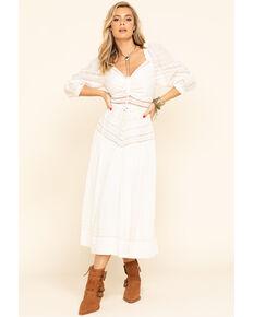 Free People Women's Sweethearts Midi Dress, Ivory, hi-res