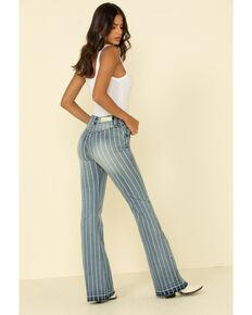 Rock & Roll Denim Women's High Rise Stripe Trouser, Blue, hi-res