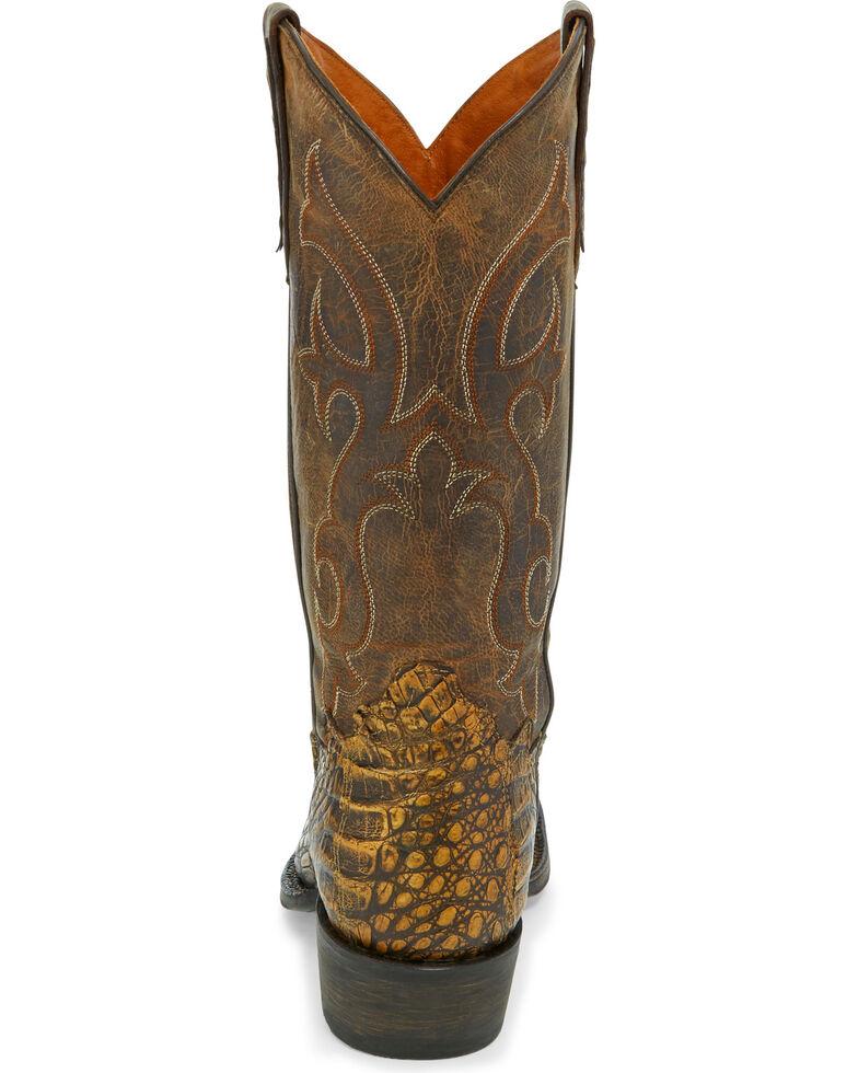 6c44573a8b2 Tony Lama Men's Cafe Hornback Caiman Cowboy Boots - Square Toe