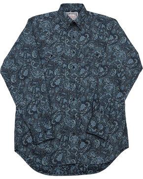 Schaefer Outfitter Men's Blue Frontier Paisley Western Button Shirt - Big 2X, Blue, hi-res