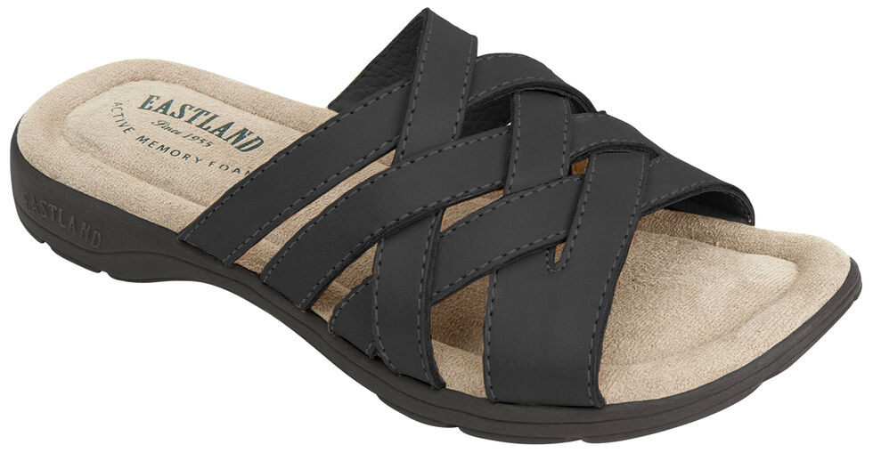 Eastland Women's Black Hazel Sandals , Black, hi-res