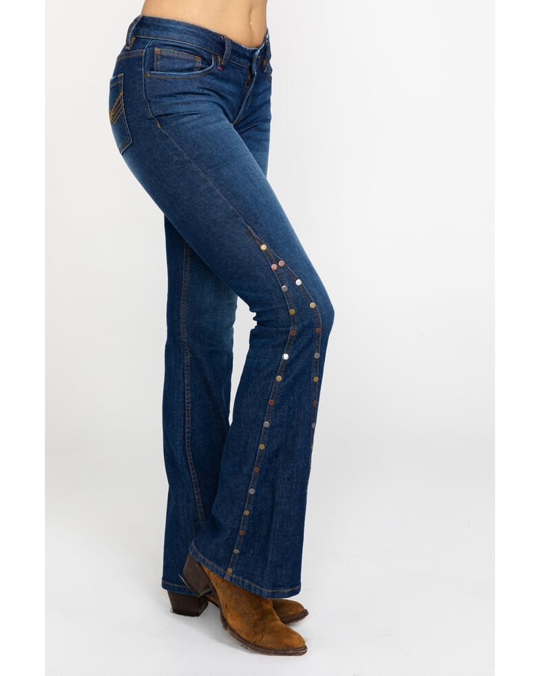 Idyllwind Women's Extra Flair Flare Jeans , Blue, hi-res