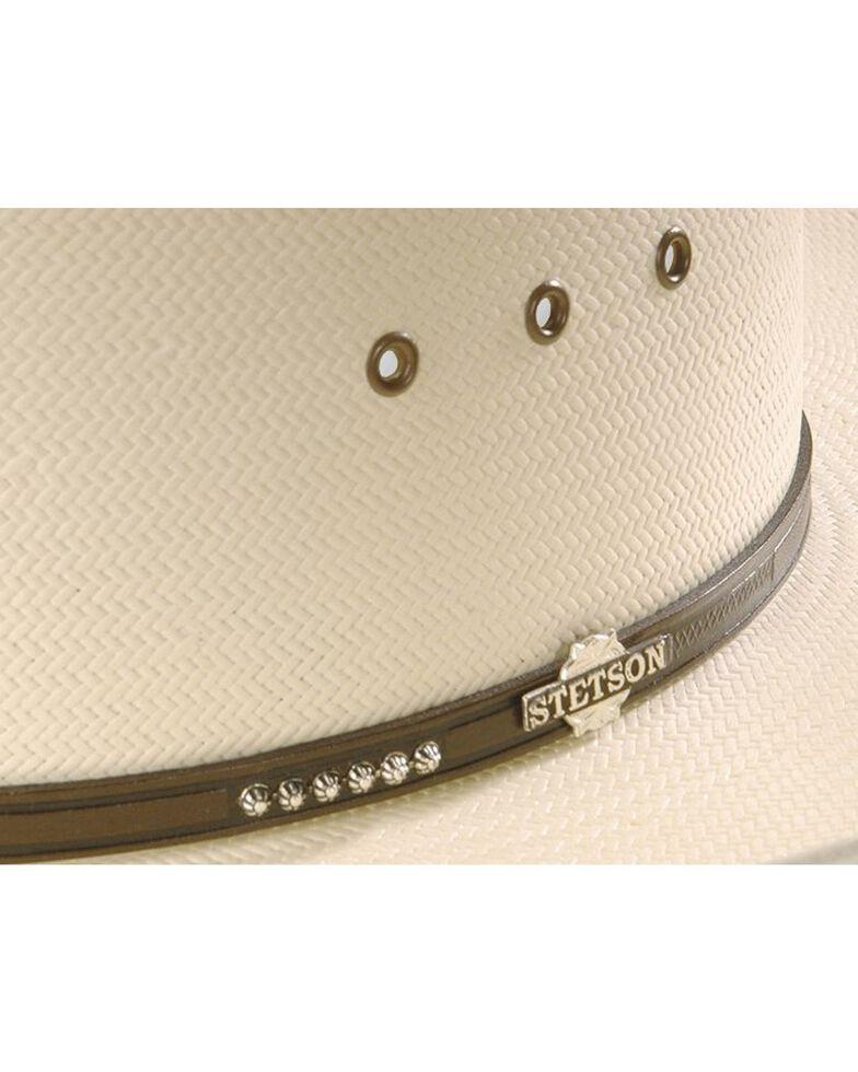 Stetson Men's Llano 10X Straw Cowboy Hat, Natural, hi-res