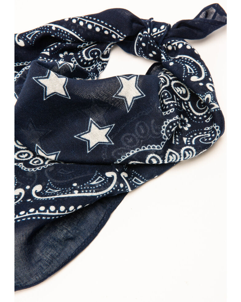 Idyllwind Women's Star In The Night Blue Bandana, Navy, hi-res