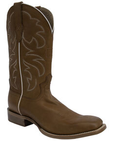 Twisted X Men's Rancher Western Boots - Square Toe, Cognac, hi-res
