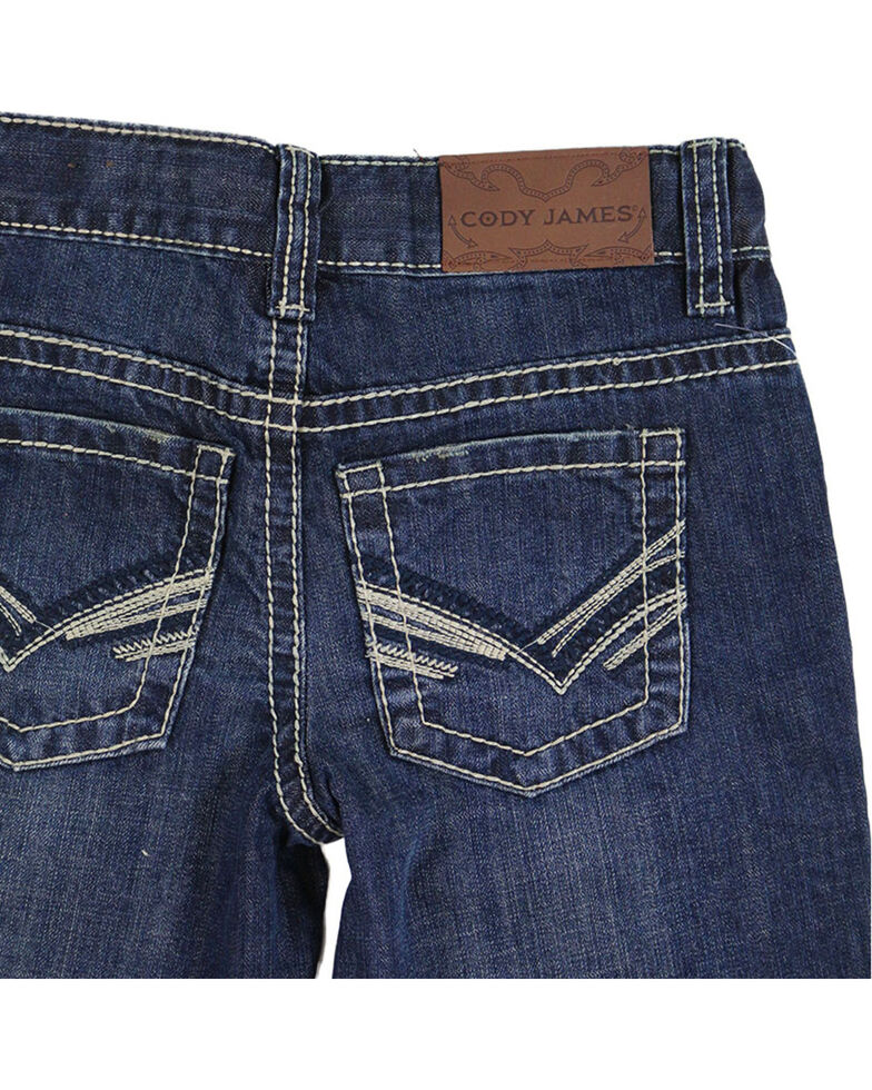 Cody James Boys' Bootcut Denim, Dark Blue, hi-res