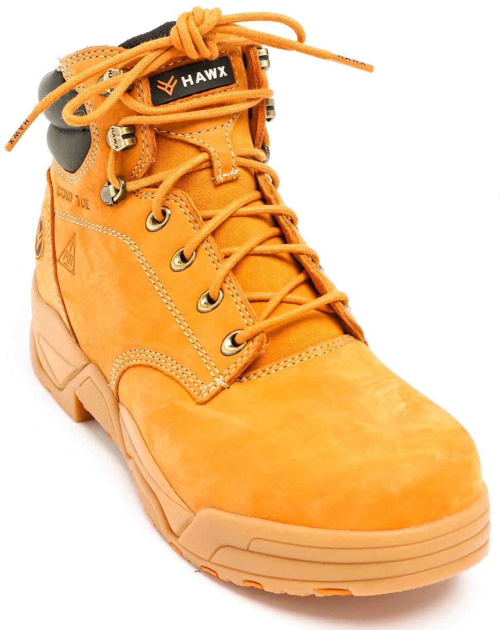 Hawx® Men's Wheat Enforcer Lace-Up Work Boots - Composite Toe, Wheat, hi-res