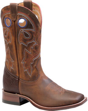 Boulet Laid Back Tan Spice Cowgirl Boots - Square Toe, Tan, hi-res