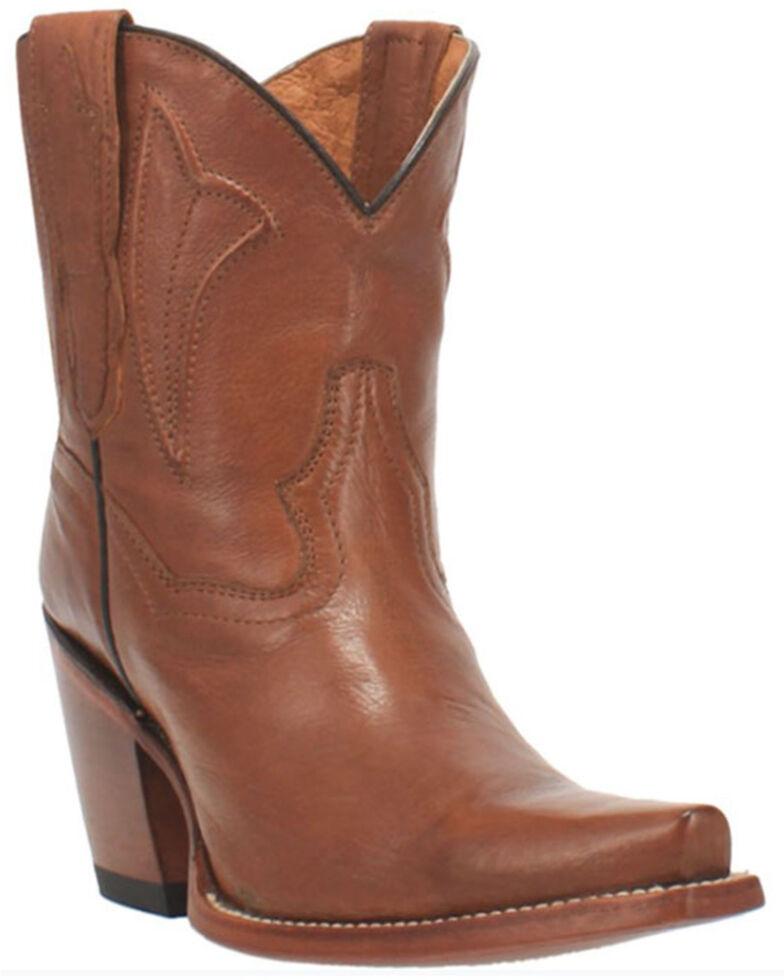 Dan Post Women's Myla Western Booties - Snip Toe, Tan, hi-res