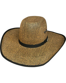 Bullhide Men's No Refund 50X Straw Cowboy Hat, Wheat, hi-res