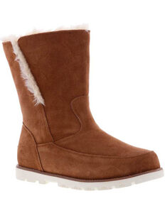 Lamo Footwear Women's Chestnut Brighton Boots - Moc Toe, Chestnut, hi-res