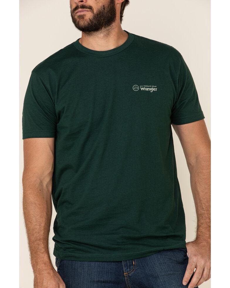 ATG™ by Wrangler Men's All-Terrain Forest Green ATG Logo Graphic Short Sleeve T-Shirt , Dark Green, hi-res