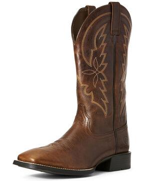 Ariat Men's Brown Heritage Brushpopper Western Boots - Square Toe, Brown, hi-res