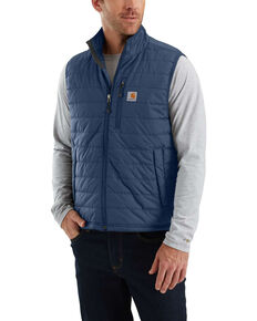 Carhartt Men's Gilliam Work Vest - Tall , Dark Blue, hi-res