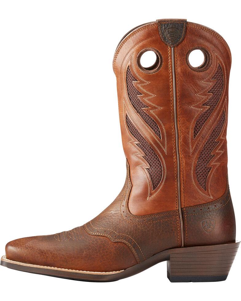 Ariat Men's VentTEK Roughstock Cowboy Boots - Square Toe, Brown, hi-res