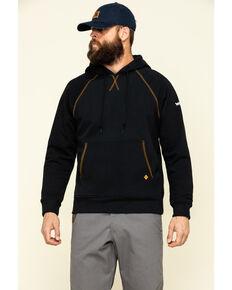 Wrangler 20X Men's Flame Resistant Hooded Work Sweatshirt , Black, hi-res