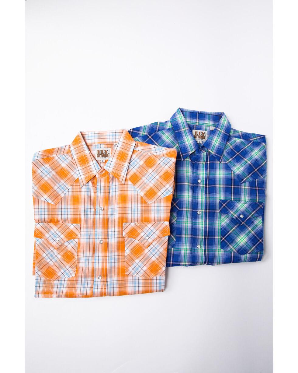 Ely Cattleman Men's Assorted Pastel Check Plaid Short Sleeve Western Shirt , Multi, hi-res